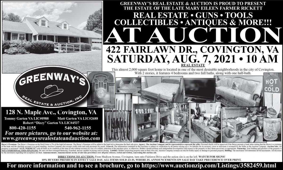 Greenway's - Rickett Auction - 5x5.5