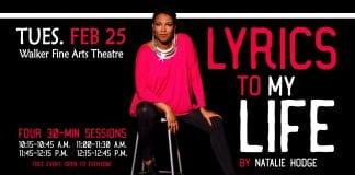 Local producer, wordsmith Natalie Hodge presents 'Lyrics to my Life' at PHCC