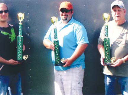 Car Show trophy winners: Billy Humphrey (left), Brient Lynch and Roscoe Smith