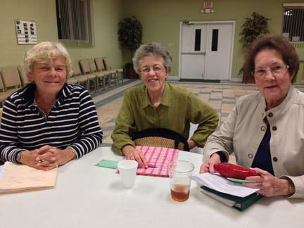 Theresa Thompson, Donna Sams-Council and Shelva Burr, planning October's Taste & Tell Luncheon