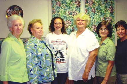 Zoe Sampson (second from left) with Mary Ellen Raines (left), Geri Dalton, Sandra Walton, Susan Morgan and Kathleen Williamson, Conservation committee members of the Ronceverte Woman's Club