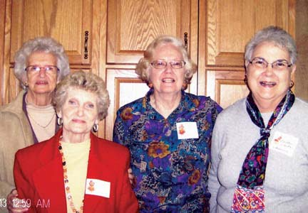 Members of the Williamsburg CEOS club attending Nov. 15 workshop: Blanche Knicely (left), Loretta Shirley, Shela McComsey and Barbara Deeds.