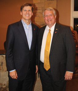 Duane Zobrist, seen here with State Senator Bill Cole (R-Mercer), vice chairman of the WV Republican Legislative Committee, is running for the WV State Senate's Tenth Senatorial District