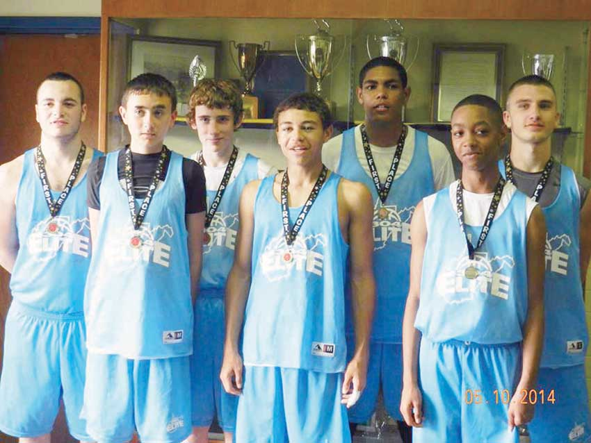 Team members: Front Row: Nathan Lemons (left), Darian Munsey and Bryson Penn; Second Row: Devin Persinger (left), Logan Taylor, Jasiah Rawls and Billy Honaker. Coaches are Doug Persinger and David Canterbury.