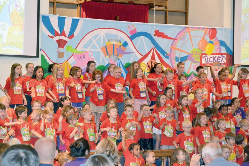 Over 100 children enjoyed Vacation Bible School 2013 at Lewisburg United Methodist Church