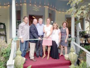 Front Porch Ribbon Cutting