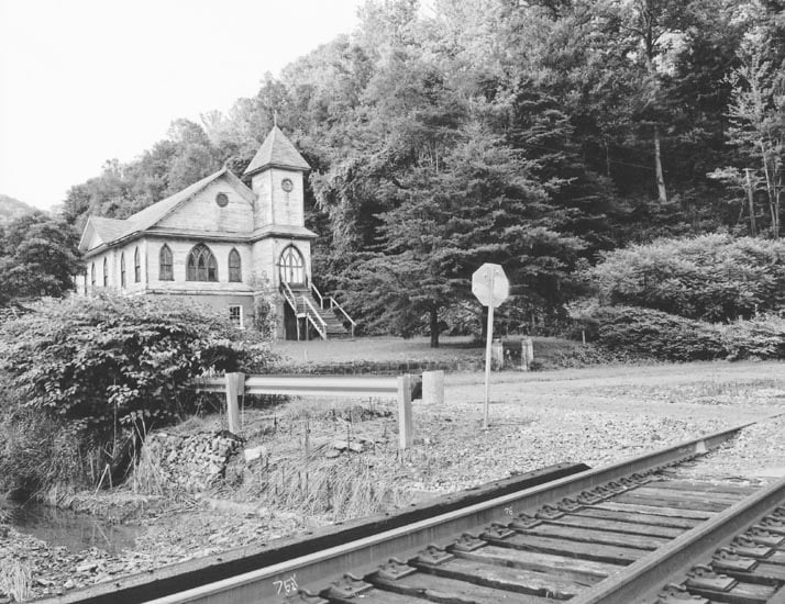 """2014 Hidden History Photo Contest awarded Best in Show - Adult to Linda Treadway of Beckley for her image """"Gospel Echoes Through Time."""" Her entry shows the historic spirit of New Salem Baptist Church in Tams, WV."""