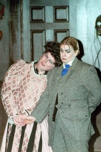 Kermit Medsker and Cathey Sawyer in GVT's 1998 production of 'The Mystery of Irma Vep: A Penny Dreadful' (Photo courtesy Greenbrier Valley Theatre)