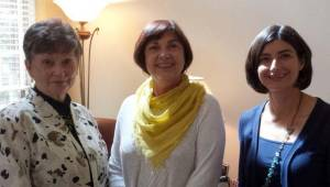 Margaret Hamrick, speaker (left), Peggy Brown and Suzanne Perilli Hancock