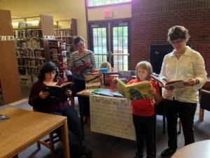 The children's books have arrived at White Sulphur Public Library.
