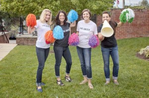Katie Eads (left), Deva Wagner, Shannon Rausenberger and Mary Baldwin will co-chair the United Way of the Greenbrier Valley's 2014 campaign