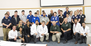 WVSOM Emergency Medicine club members and RHI students helped guide the EMT students and assisted them with working in teams