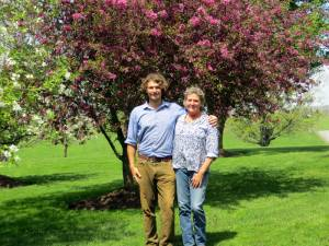 """Jennifer """"Tootie"""" Jones and her son, Everett O'Flaherty, were recently awarded Second Place in the West Virginia Conservation Farm of the Year contest. Jones raises beef cattle at Swift Level Farm, directly marketing her beef to area butchers, restaurants, shops and farmers markets."""