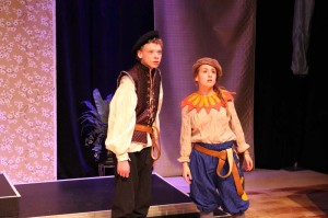 Shane Roper and Carly Brand in 2014 Teen Conservatory Spring Showcase The Comedy of Errors (Photo courtesy Greenbrier Valley Theatre)