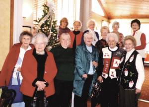 Progressive CEOS at 2014 Christmas Party - Front Row: Jean Foley (left), Thelma Berkley, Betty Rutherford, Ginny Arthur, Dot Feamster and Mary Liz Richmond; Back Row: Barbara Shiley (left), Chris Gowings, Colleen Walton, Faye Honaker, Kitty Loudermilk and Linda Schmidt.