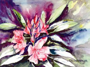 Watercolor art by Phyllis B. Crickenberger