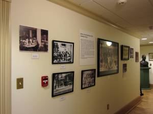 The exhibit installed in the North House