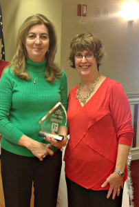 Realtor of the Year - Martha Hilton, 2014 Realtor of the Year (left) presented by Mardi McMillan