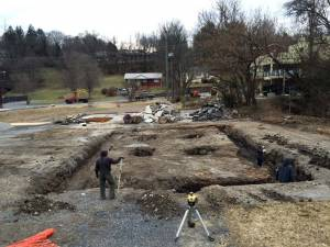 Lynch Construction began digging footers for the new building at Montwell Park on Tuesday. By that afternoon, they were already pouring concrete footers.