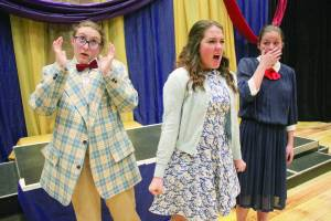Chloe Johnson, Lachelle Wise and Alexis Wise in the 2014 GVTeen Spring Showcase Charlie and the Chocolate Factory (Photo courtesy of Greenbrier Valley Theatre)
