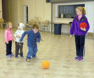 Old Stone Presbyterian Preschool recently welcomed a visit from Christy Cullen of Northern Greenbrier Youth Soccer League. Christy shared her love of the game with the students by instructing them on basic soccer skills. The Old Stone Church Preschool and NGYSL have several goals in common, such as the love of play and good sportsmanship. Pictured: Chloey Wykle (left), Kaden Green, Jakob Flack and Christy Cullen.