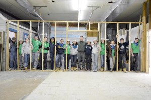 College students from across the country spend their spring break volunteering for Almost Heaven Habitat for Humanity.