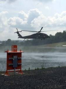 Helicopter lands on WVSOM's campus this past weekend as part of live demo during 4th annual Rural Health Initiative (RHI) Rural Practice Day
