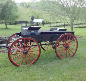 Antique wagon belonging to Raymond and Lynn Tuckwiller