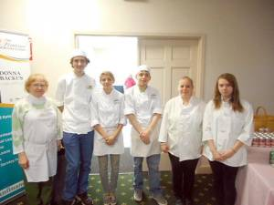 Students from Greenbrier East High School Culinary Class prepared food for the event. In no particular order they were: Brittany Knuckles, Corey Jones, Sabrina Reines, Ted Beard, Jessica Shields, and teacher Phyllis Harbert.