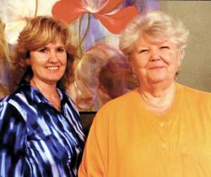 Sherry McCormick Hawkins (left), club member and Sandra Walton, RWC vice president at March meeting