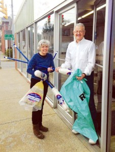 The West Virginia Make It Shine Program is a comprehensive program aimed at making West Virginia the cleanest state in the nation. Rainelle Mayor Andrea Pendleton (left) and Charles Allen, a patron of Tri County Furniture in Rainelle, are shown handing out REAP bags for picking up litter on the streets to promote the statewide litter sweep program, urging businesses, community organizations, and local governments to accomplish the goal. In Rainelle, the annual event dates are as follows: Rainelle Litter Sweep, Apr. 12 through Apr. 19. Rainelle Volunteer Make It Shine Day, Apr. 18 - meet at Rainelle Town Hall at 8:30 a.m. Volunteers are needed to make this effort a success.