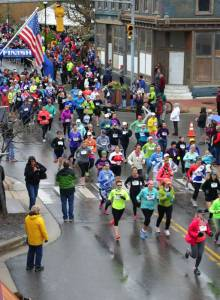 Hundreds of competitors braved a chilly, rainy, 40-degree morning to run, bike and paddle in the 29th Annual Great Greenbrier River Race