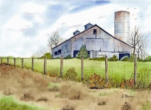Don't miss the Second Annual Nancy Robertson Art Show opening Sunday, May 17 at Western Greenbrier Middle School. (Barn at Meadow Bluff by Nancy Robertson)