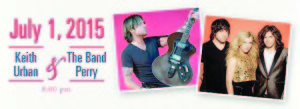 Greenbrier Classic Tournament officials have announced thatKeith Urban and The Band Perry will perform beginning at 8:00 PM on Wednesday, July 1 as part of the 2015 Greenbrier Classic Concert Series, coinciding with the sixth annual Greenbrier Classic, June 29 - July 5 at The Greenbrier, the classic American resort in White Sulphur Springs, WV.