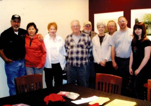 Tony and Alice Tatakis (left), Swan James, George Gascon, Tom Foster, Margie and Ron Ness, Tony and Jessica Martin