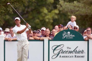 Tiger Woods at the 2012 Greenbrier Classic