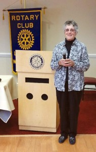 Prisoner Visitation and Support coordinator Willa Izzo and guest Susie Nalker (not pictured) presented to Lewisburg Rotarians on Apr. 27.