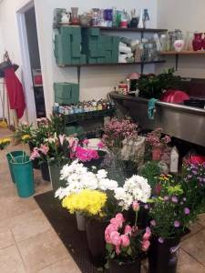 Wiseman's Floral's workshop is full of fresh flowers ready to be turned into Mother's Day bouquets.