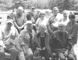 During their traditional Memorial Day get together held on the banks of Moncove Lake, in nearby Monroe County, Ballard family members displayed flags in remembrance of military service under the banners of 48 Stars, 50 Stars and the C.S.A.