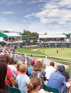 Spectators take in The Greenbrier Classic on the beautiful Old White TPC.