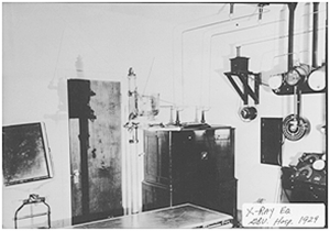 X-Ray Room of Greenbrier Hospital 1929