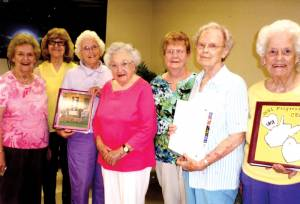 Progressive CEOS at September meeting: Mary Liz Richmond (left), Barbara Shiley, Colleen Walton, Thelma Berkley, Faye Honaker, Chris Gowings and Dot Feamster (Not pictured: Patty Gray, Kitty Loudermilk and Betty Jo McNeel)