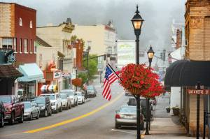 """Lewisburg is currently in first place in the """"Happiest Town"""" reader poll being conducted by Blue Ridge Country magazine"""