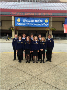 Front: Shae McMillion (left), Savanna Honaker, Kayelin Perry and Alexis Jones; Back: Bryar Ellis (left), Erik Ford, Andrew Vance, Justin Viers and Justin Massey