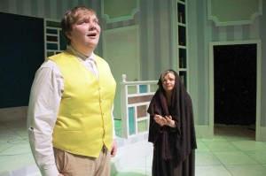 """Jacob Masters and Revanna Preston in GVTeens 2015 Spring Showcase """"Beauty and the Beast"""" (Photo courtesy Greenbrier Valley Theatre)"""