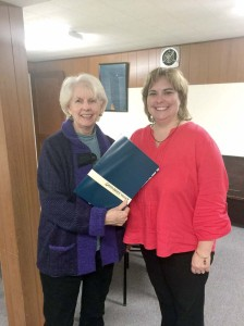 Catherine McKinney of Richlands Ruritan club (left) and Kara Dense, executive director, Greenbrier Convention and Visitors Bureau, at the Oct. 14 club meeting