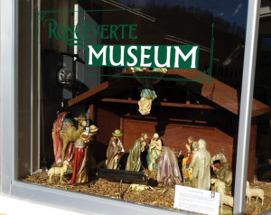 The Ronceverte Museum located at 218 West Edgar Avenue, Ronceverte, featuring nativity scene from the Ellis Family.