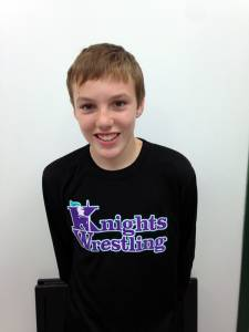 "Wrestler of the Week EGMS NAME: Zach Mullins GRADE: 8th Grade PARENTS: Carrie Chapman and (step)John Chapman CITY: Lewisburg CURRENT RECORD 5-0 GRADE POINT AVERAGE: 3.00 Favorite Quote: ""It doesn't take talent to hustle!"" COACH'S COMMENT: ""What a pleasure to Coach. Zach is so eager to learn. His thirst for Wrestling Knowledge and his Hard work will make him a success throughout the season. He leads by example!"""