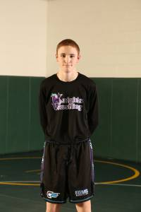 "EGMS NAME: Alex Zimmerman GRADE: 8th Grade PARENTS: Mike and Stephanie Zimmerman CITY: Lewisburg G.P.A. 3.1 CURRENT RECORD: 20-6 (13 Pins) FAVORITE QUOTE: ""Life is just a garden, so dig it."" COACH'S COMMENT: ""Alex is one of our most experienced wrestlers on the team. His commitment to wrestling this past summer has really paid dividends. I am so proud of his effort and willingness to learn. Alex knows wrestling."""