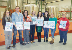 Attendees of the Art and Ale workshop held at Greenbrier Valley Brewing Company held in December.